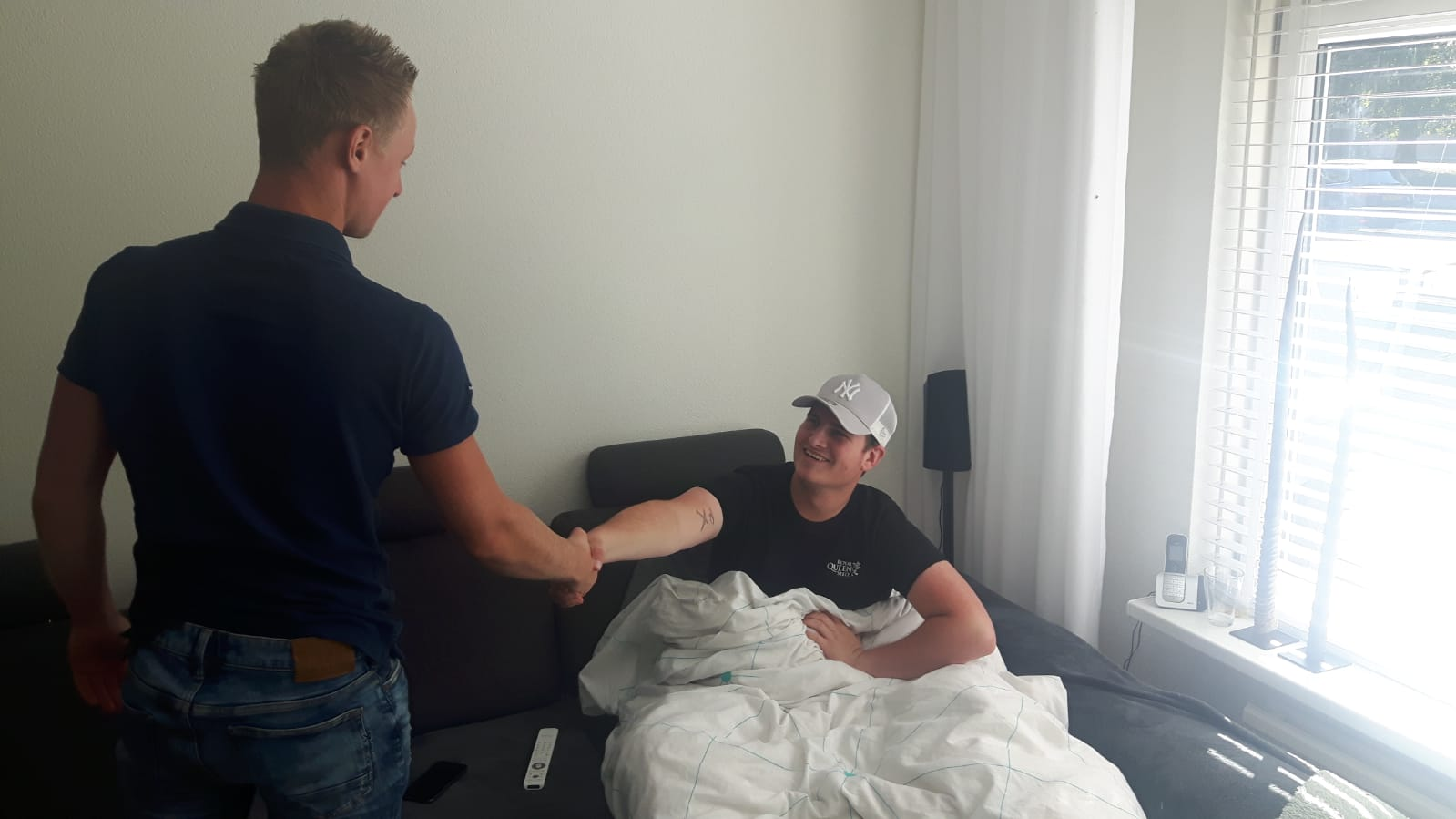 Stef vd Vossenberg geopereerd aan zijn knie